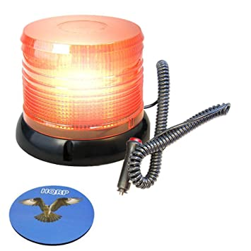 hqrp dc 12v ac revolving flash intermittent flash amber beacon ledhqrp dc 12v ac revolving flash intermittent flash amber beacon led strobe light with magnetic