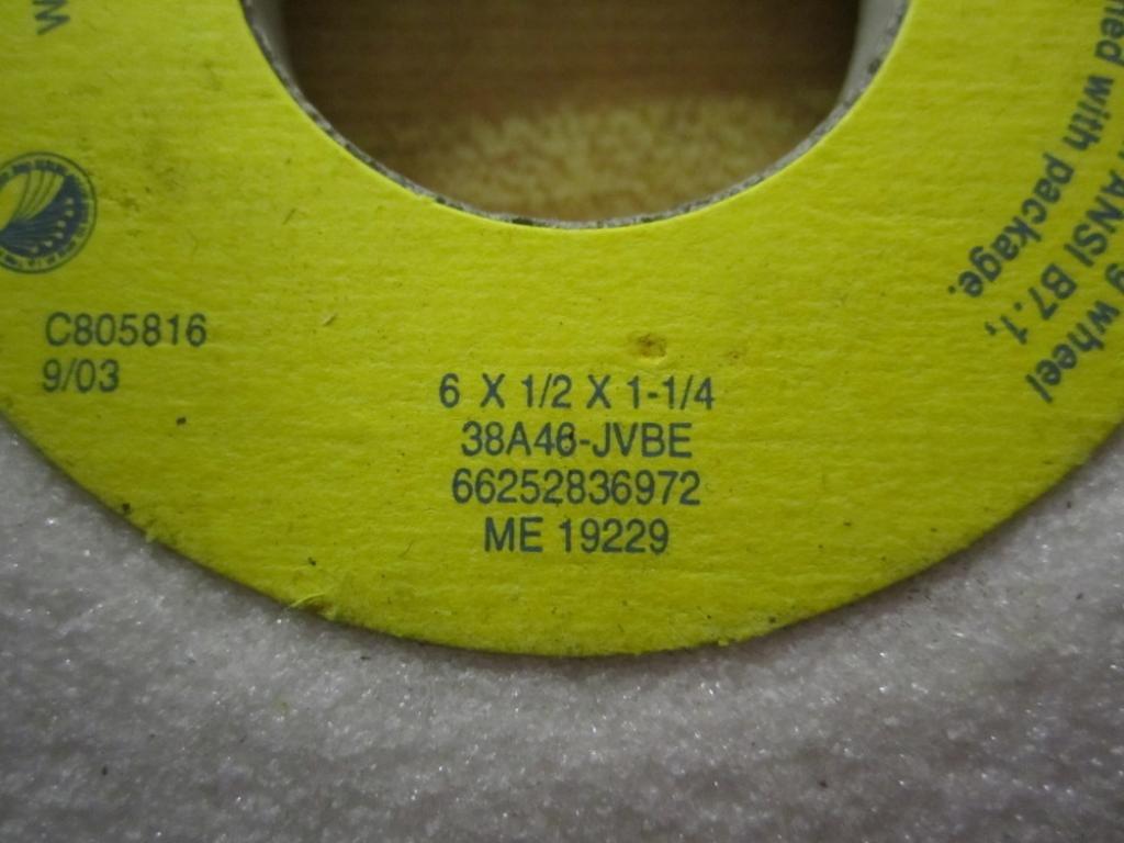 Norton 38A46-JVBE 6 X 1//2 X 1-1//4 Wheel 66252836972