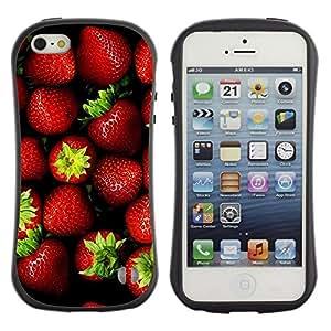 Suave TPU GEL Carcasa Funda Silicona Blando Estuche Caso de protección (para) Apple Iphone 5 / 5S / CECELL Phone case / / Strawberry /