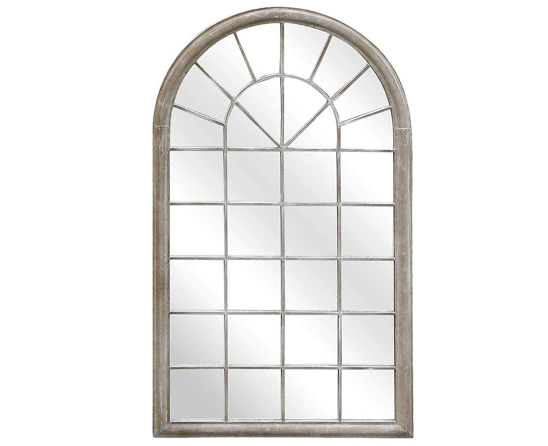 Gartenspiegel Spiegelfenster - Bogen-Optik - - Garten-Dekor - - Natur 214d7f