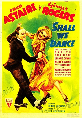 Posterazzi Shall We Dance from Left: Fred Astaire Ginger Rogers On Midget Window Card 1937 Movie Masterprint Poster Print (11 x 17)
