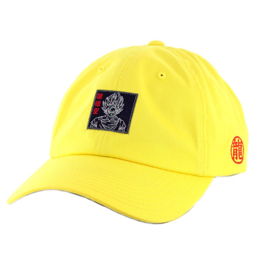 Primitive x Dragon Ball Z Goku Reflective Dad Hat (Yellow) DBZ Strapback Cap a6079a58b39