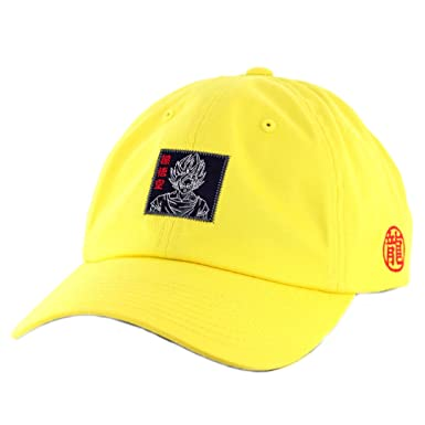 Primitive x Dragon Ball Z Goku Reflective Dad Hat (Yellow) DBZ Strapback Cap   Amazon.ca  Clothing   Accessories 27ed4ed3a77