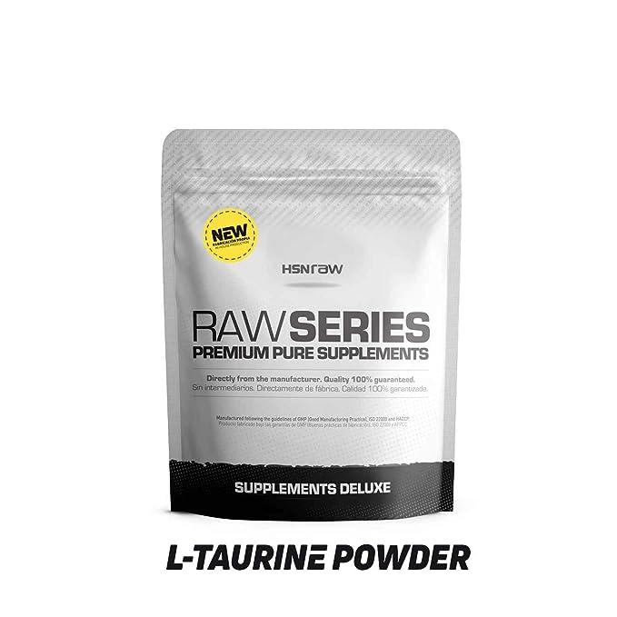 Taurina en Polvo de HSN Raw | Mejora la Hidratación y Reduce Calambres | Neurotransmisor y