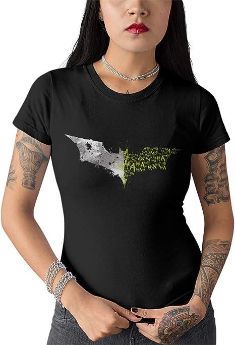 Elbster Camisa batjoke batman joker camisa cc cómica para mujeres negro L: Amazon.es: Ropa y accesorios