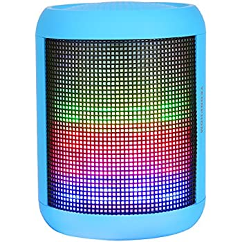 Bluetooth Speakers, YEONPHOM Super Bass Wireless Portable Outdoor Stereo Speaker with LED Colorful Light Build-in Mic Hands-Free Compatible with iPhone,iPad,iPod,Android Smart-phone,Latops (Blue)