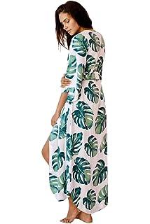 02f44916dfa NFASHIONSO Long Maxi Beach Dress Swimsuit Sunscreen Bikini Cover Up Bathing  Suit