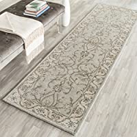 Safavieh Heritage Collection HG862A Handcrafted Traditional Oriental Beige and Grey Wool Runner (23 x 8)