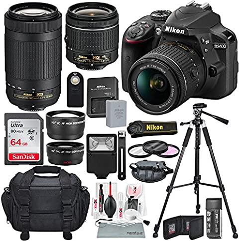 Nikon D3400 Along with Deluxe Accessories Bundle - 615b7bvOrAL - Nikon D3400 Along with Deluxe Accessories Bundle