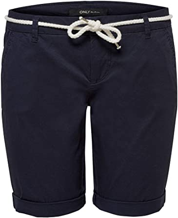 ONLY Damen Onlparis Reg Long Belt Chino PNT Shorts