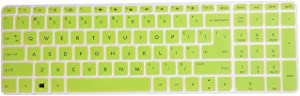 Leze - Ultra Thin Laptop Keyboard Cover Skin Protector for HP Pavilion 15 15-ab 15-ac 15t-ae 15-af 15-ak 15-an 15-au 15-ay 15-as 15-ba 15-bc 15-bk,HP OMEN 15-ax 15.6 Inch Semi - Green