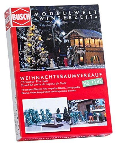 Busch 1182 Christmas Tree Sale HO Scale Scenery Kit