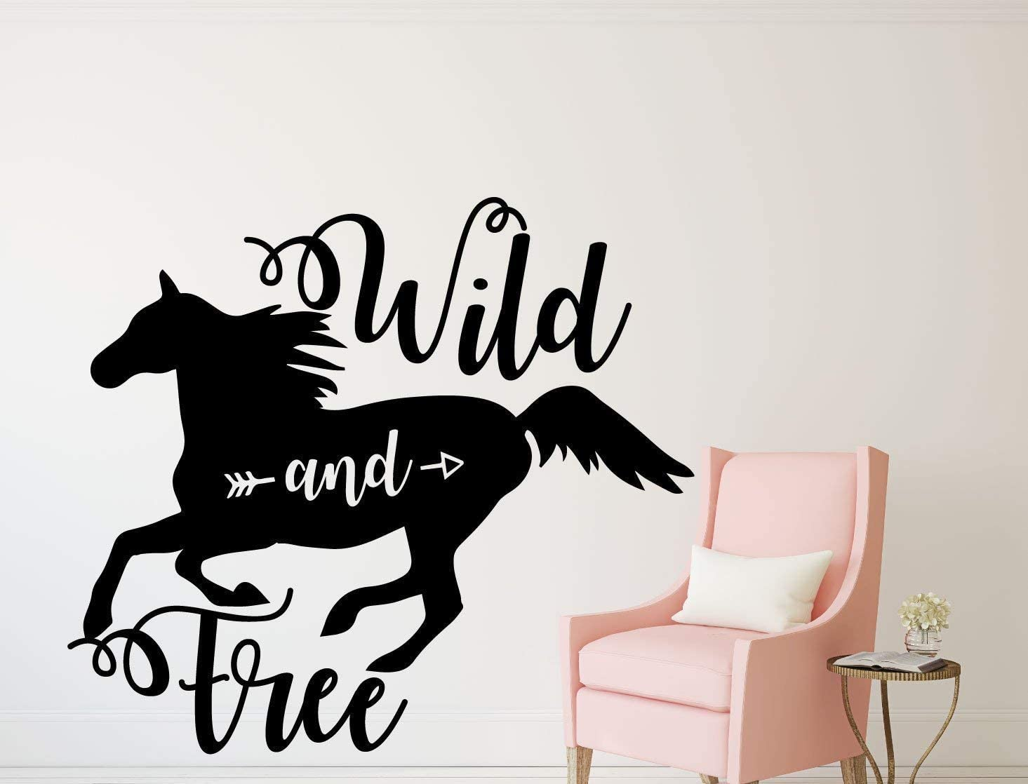 Beach345sley - Vinilo decorativo para pared de caballo, diseño de caballo o caballos, decoración de caballos, decoración de caballos, rancho de cabaña