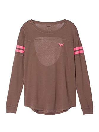 Victoria's Secret Pink Campus Open-Back Tee, Long-Sleeve at Amazon ...