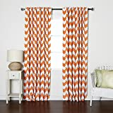 Best Home Fashion Thermal Blackout Curtains - Back Tab/Rod Pocket - Orange
