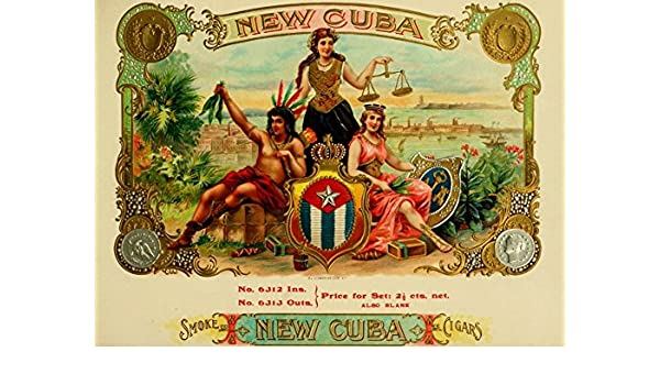 Amazoncom Old Tin Sign Vintage Cuban Cigar Box Labels New Cuba Old