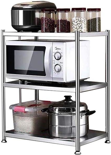 HUYYA estantería metálica Cocina Estar, microondas Estantes ...