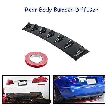 Universal 23/'/'x 6/'/' Car Lower Rear Body Bumper Lip Diffuser 5 Shark Fins Spoiler