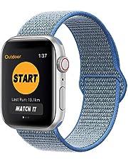 SYOSIN für Apple Watch Armband 38mm 40mm 42mm 44mm,Gewobenes Nylon Sport Schlaufe Handgelenk Uhrband Ersatz Armreif Uhrenarmband für iWatch Apple Watch Series 4, Series 3, Series 2, Series 1 …