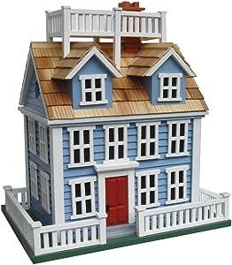 Home Bazaar CM-1002 Nantucket Colonial Birdhouse, Blue