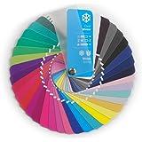 Campionario colori a ventaglio per collezione inverno puro (Clear Winter) con 35 colori per consulenza d'immagine
