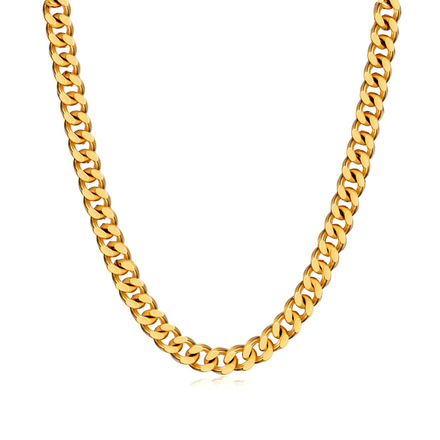 0a6576d3d71df WINNICACA Italy Cuban Hip Hop Fake Gold Chains 24k Gold Plated Chain Link  Necklaces20/22/24/26/28'',5/6/8mm Wide Fashion Jewelry Mens Gifts