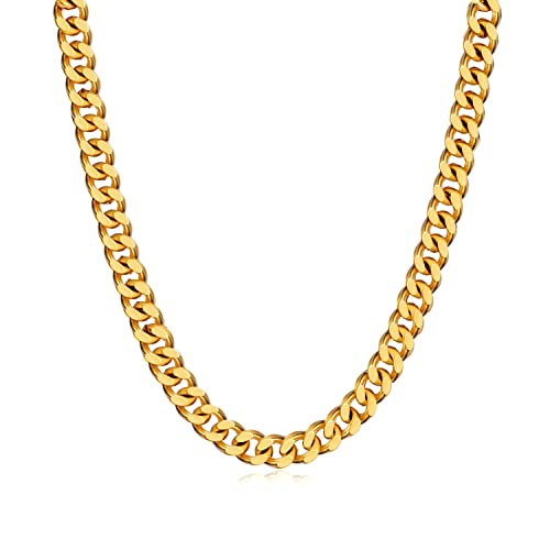 9e1e7d37e7647 WINNICACA Italy Cuban Hip Hop Fake Gold Chains 24k Gold Plated Chain Link  Necklaces20/22/24/26/28'',5/6/8mm Wide Fashion Jewelry Mens Gifts