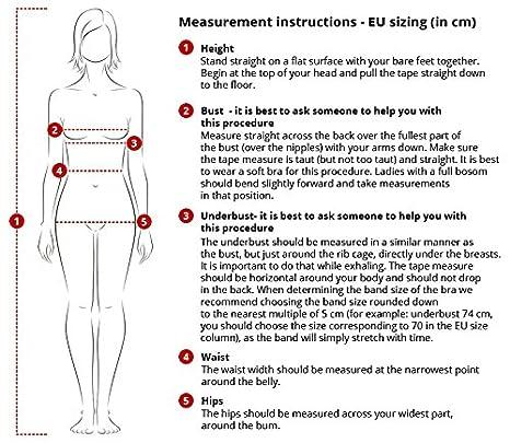 Vivisence Eve 1012 Elegante Reggiseno Push-Up Uniforme con Schiena Scoperta