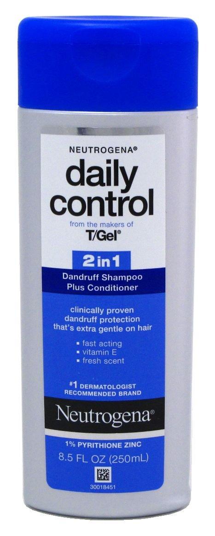 Neutrogena Shampoo T/Gel Daily Control 2-In-1 Dandruff 8.5 Ounce (251ml) (3 Pack) by Neutrogena