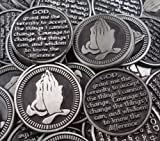 Set of 10 Serenity Prayer Pocket Token Coins