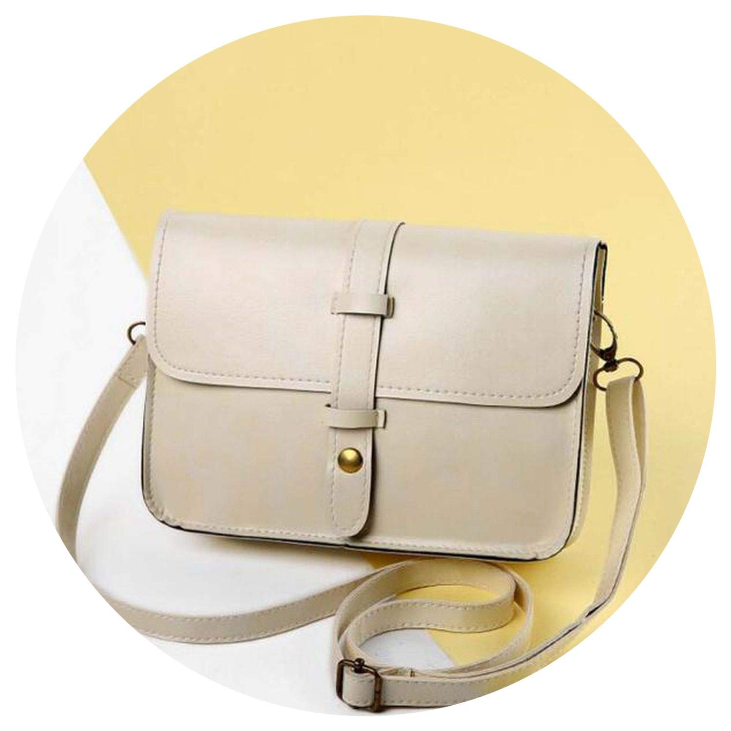 s s leather Shoulder Bags s Rivet Purse fe bolsas, Beige ...