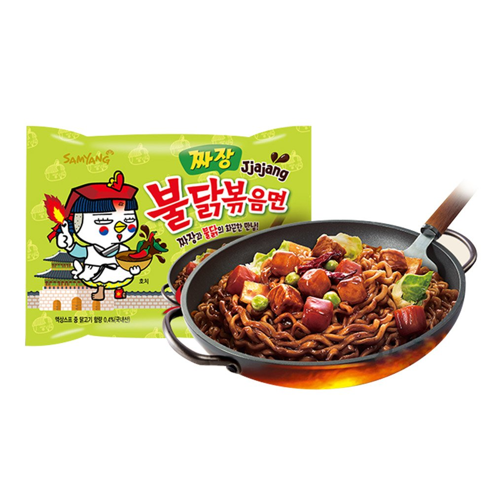 Samyang Jjajang Buldak 140g / Spicy Black Bean x Roasted Chicken Buldak Ramen / NEW Buldak / 짜장불닭 / 짜장불닭볶음면 (10)