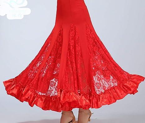 SMACO Traje de la Danza de salón Damas Falda Larga Flamenco ...