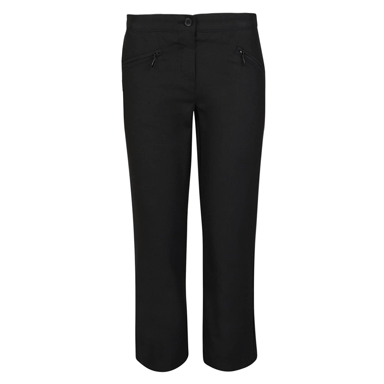 ex BHS Girls School Trousers BHS Generous Fit/Regular Fit Black Grey Navy