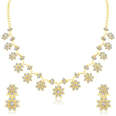 f0758710e Buy Sukkhi Jewellery Sets for Women (Golden) (N71439GLDPAP600) Online at  Low Prices in India | Amazon Jewellery Store - Amazon.in