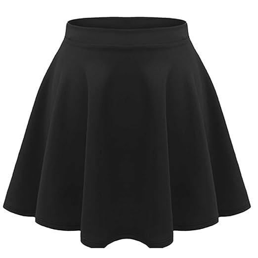 08ed32279d Amazon.com: R KON Kids Girls Children HIGH Waisted Stretch Plain Flippy  Flared Short Skater Skirts: Clothing