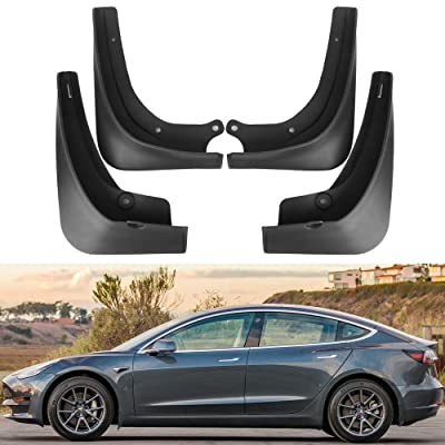 Tesla Model 3 Mud Flaps Splash Guards(Set of Four) No Need to Drill Holes Gen 2 Upgraded: Automotive