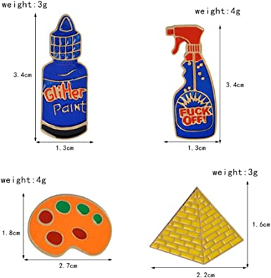 QIHE alfileres y alfileres de joyería baño pirámide detergente ...