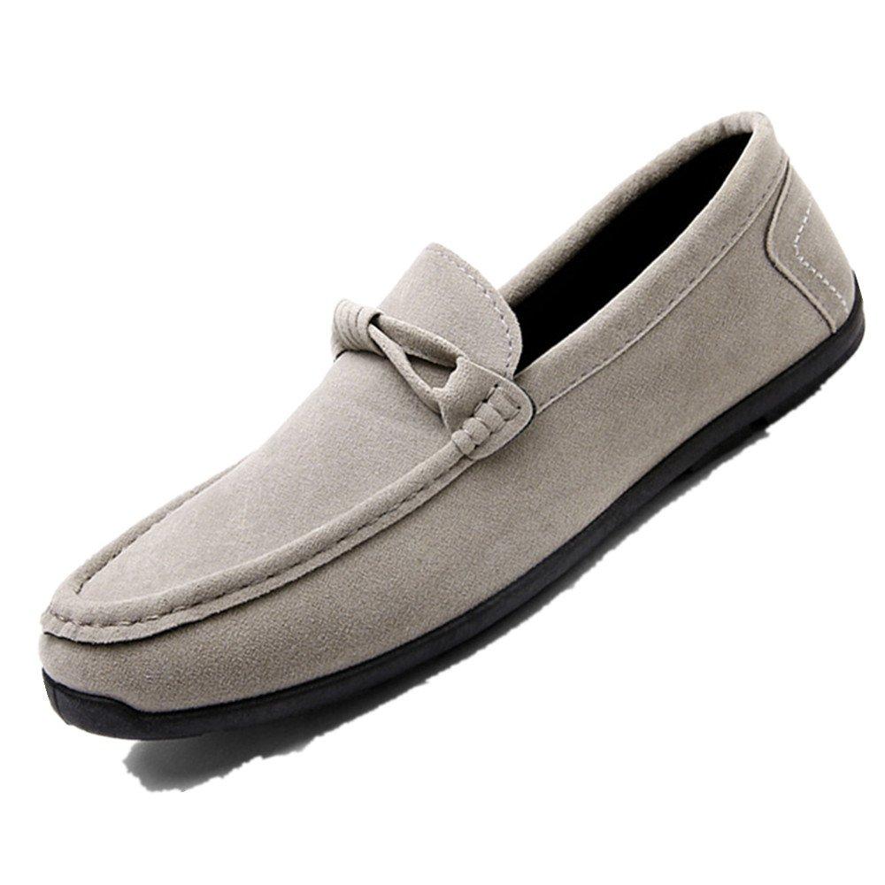 LIEBE721 Mode Lauml;ssig Schuhe Raster Slip auf Mauml;nner Beliebte Freizeitschuhe  40 EU|Grau
