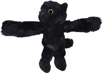 Best Stuffed Animals For Boy, Amazon Com Wild Republic Huggers Black Cat Panda Plush Toy Slap Bracelet Stuffed Animal Kids Toys 8 Inches Toys Games