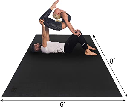 Amazon Com Gxmmat Extra Large Yoga Mat 6 X8 X7mm Thick Workout Mats For Home Gym Flooring Non Slip Quick Resilient Barefoot Exercise Mat Non Toxic Ultra Comfortable Cardio Mat For Pilates Stretching Fitness