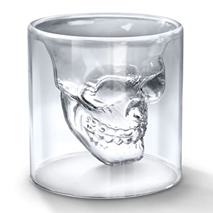 PACKNBUY 250 ml Jumbo Shot Vodka Drinks Glass Skull Shaped