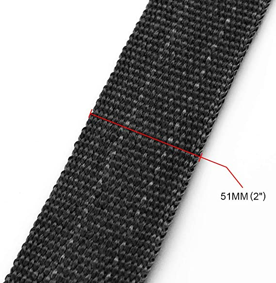 RASTP 2 Inch x 32 Feet Exhaust Heat Wrap for Motorcycle Fiberglass Exhaust Tape with 4pcs Stainless Steel Locking Ties Black,10M