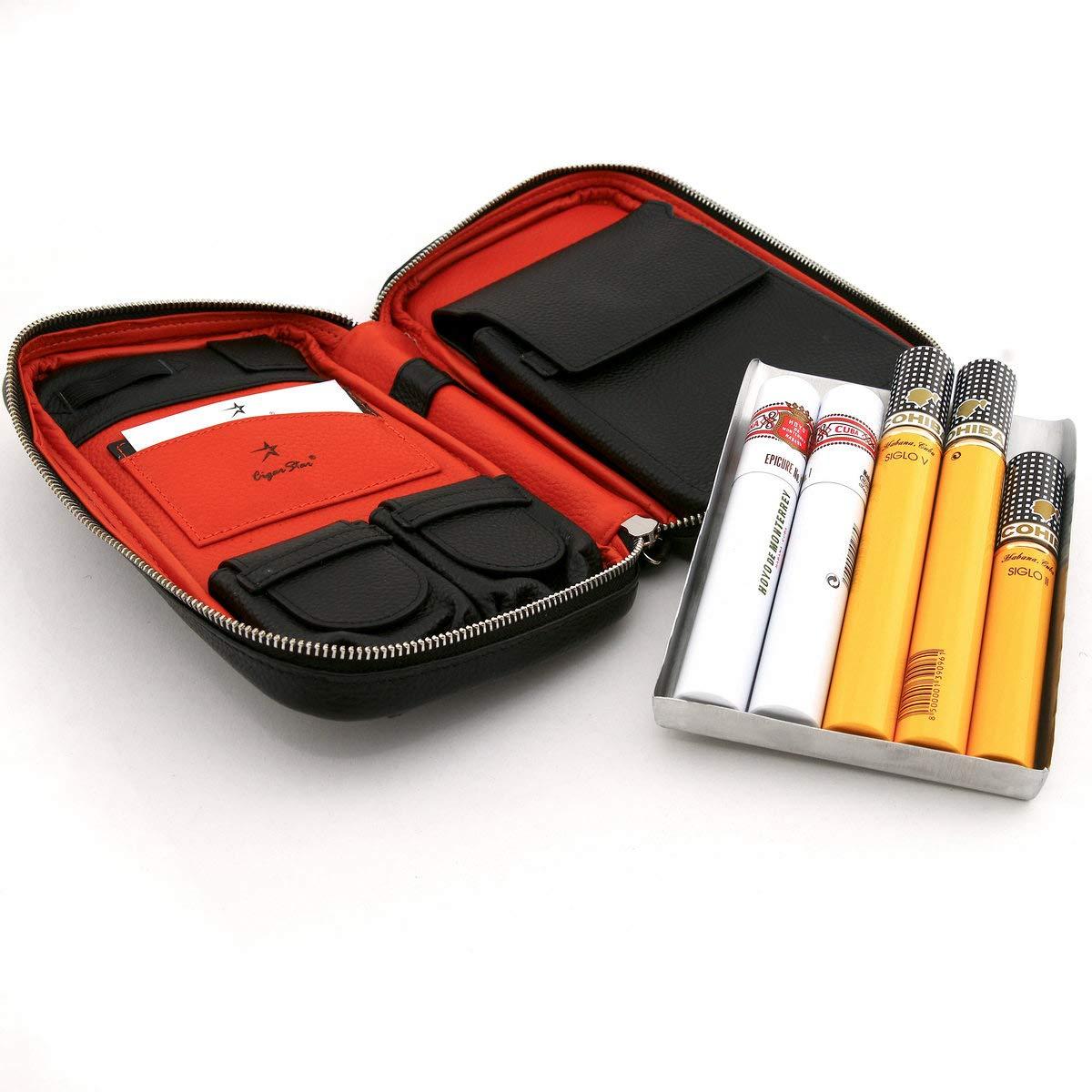 Luxury Genuine Leather Cigar CASE
