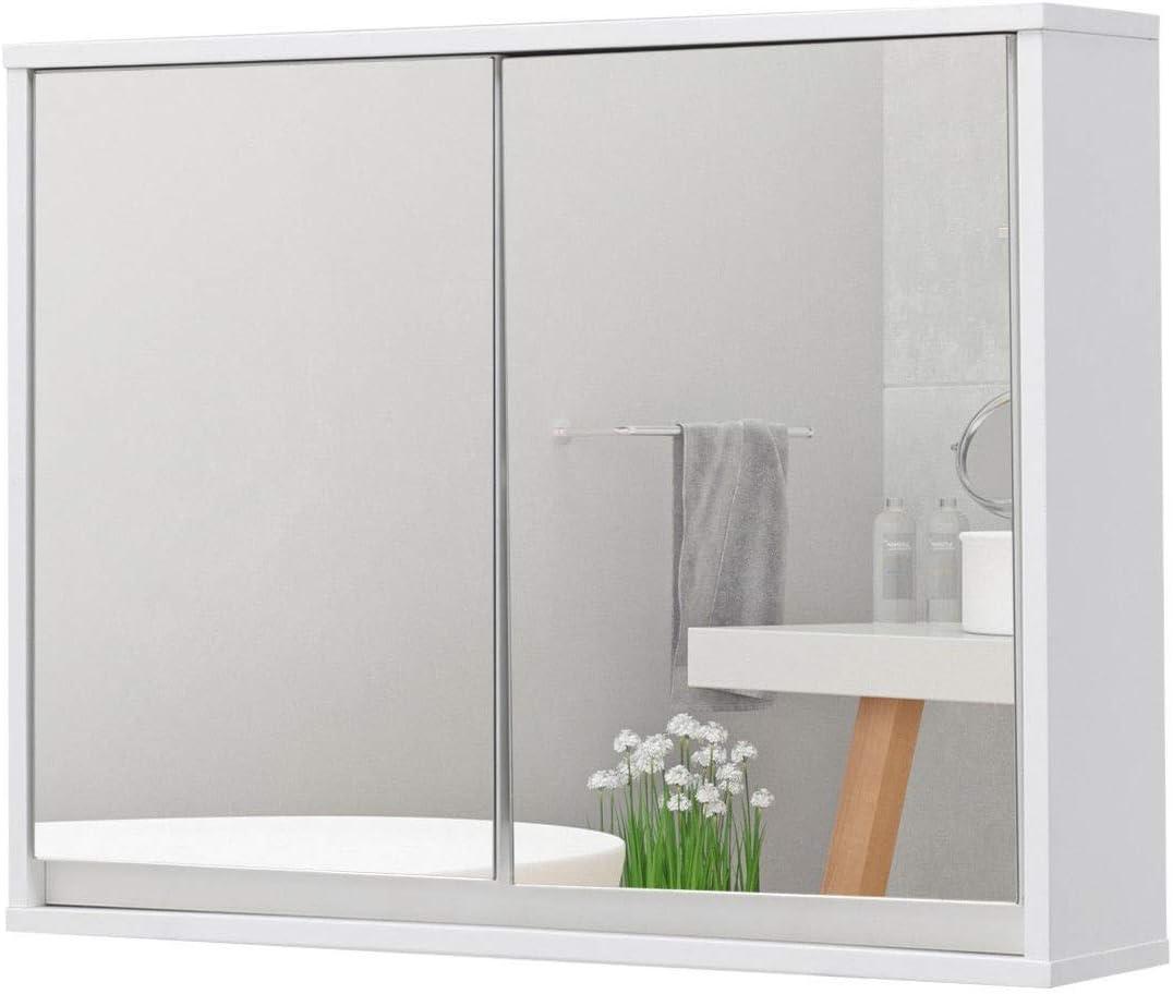 USA_BEST_SELLER Armario de baño de Pared con Doble Espejo, Estante de Puerta Moderno y Compacto, Resistente y práctico: Amazon.es: Hogar