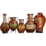 "Deco 79 Metal Vase Wall Decor, 17 by 38"""