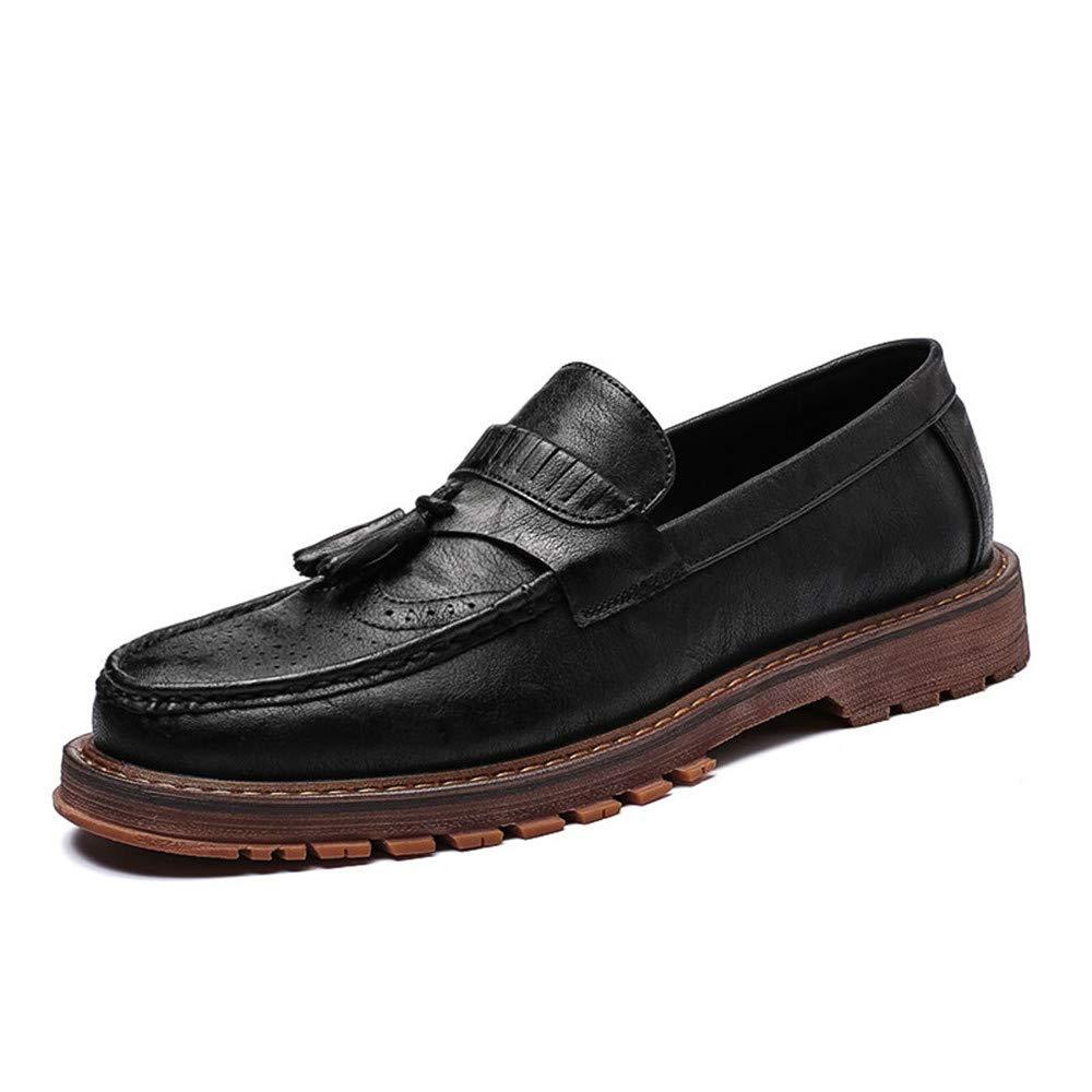 JIALUN-Schuhe Herrenmode Business Oxford Oxford Oxford lässig Neue britische Retro Low Top schnitzen Tasseled Brogue Schuhe (Farbe   Braun, Größe   41 EU)  234a26