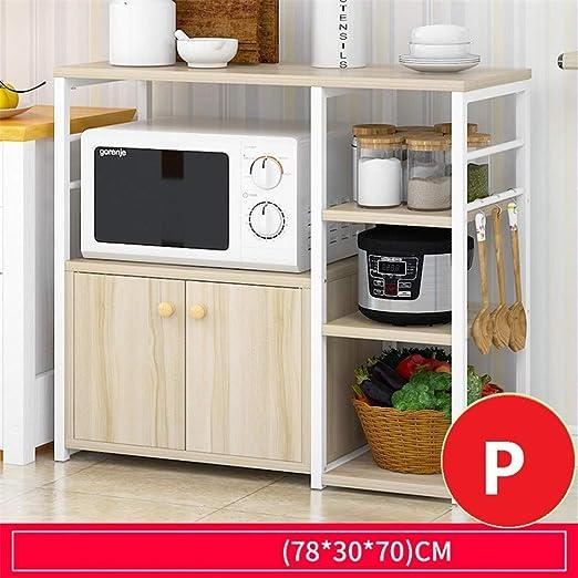 Estante de Cocina, Horno de microondas Soporte de Piso, Cocina ...
