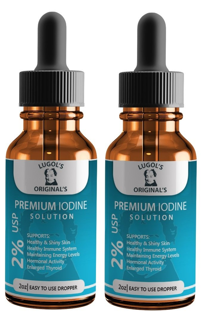 Lugols 2% USP Premium Iodine Supplement, 2-Ounce, 2-Pack by Lugol's Original's Iodine Solution