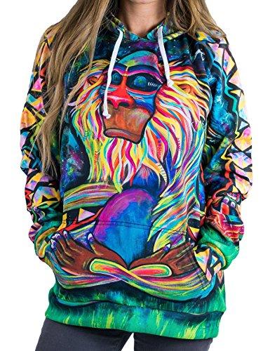 Electro Threads Women's Meditating Rafiki Pullover Hoodie (Large)